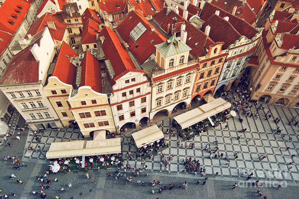 Wall Art - Photograph - Prague Rooftops, Beautiful Aerial View by Igorstevanovic