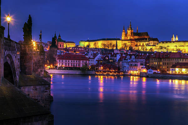Wall Art - Photograph - Prague Sparkling At Twilight by Andrew Soundarajan