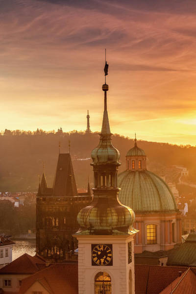 Wall Art - Photograph - Prague Spires by Andrew Soundarajan