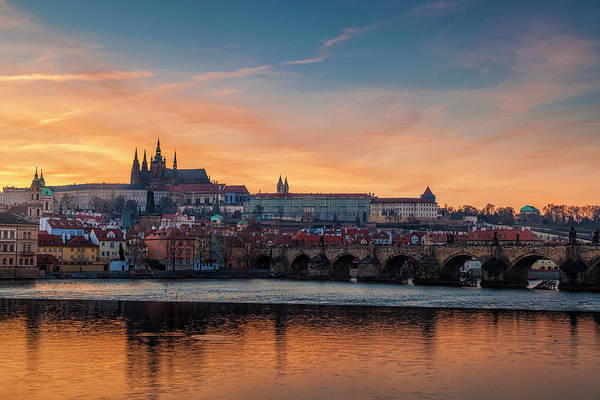 Praha Wall Art - Photograph - Prague Sunset by Andrew Soundarajan