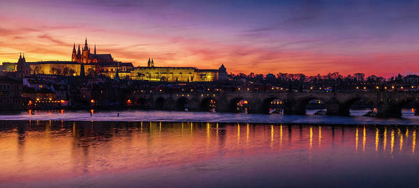 Wall Art - Photograph - Prague Sunset Panorama by Andrew Soundarajan