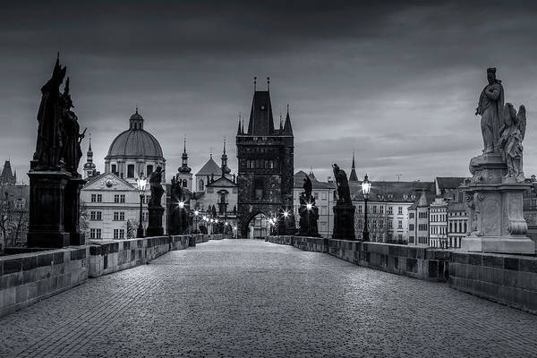 Praha Wall Art - Photograph - Prague's Charles Bridge by Andrew Soundarajan