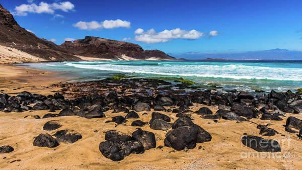 Photograph - Praia Grande Beach 2, Sao Vincente, Cape Verde by Lyl Dil Creations