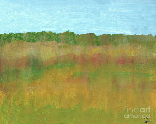 Painting - Prairie Abstract by D Hackett