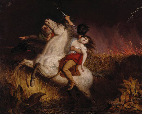 Wall Art - Painting - Prairie On Fire, 1847 by Charles Deas