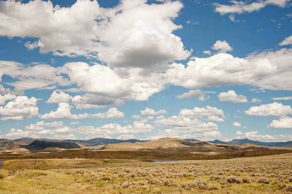 Continental Divide Photograph - Prairie, Sky And Clouds by Earleliason