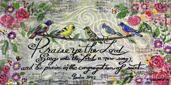 Mixed Media - Praise Birds by Janis Lee Colon