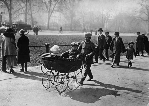 1923 Photograph - Pram Ride by Topical Press Agency
