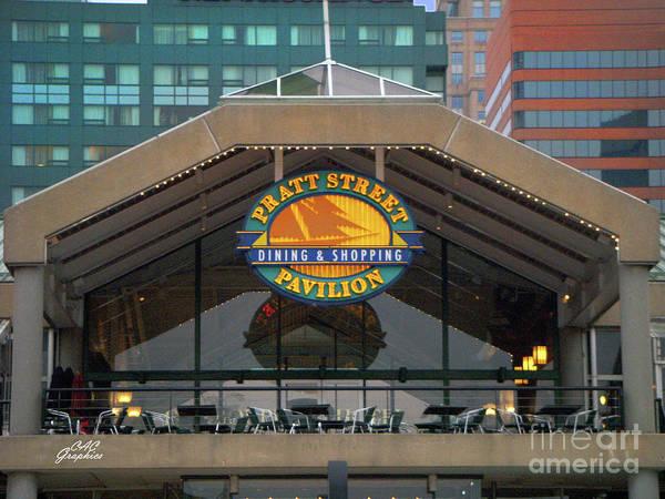 Photograph - Pratt Street Pavilion by CAC Graphics
