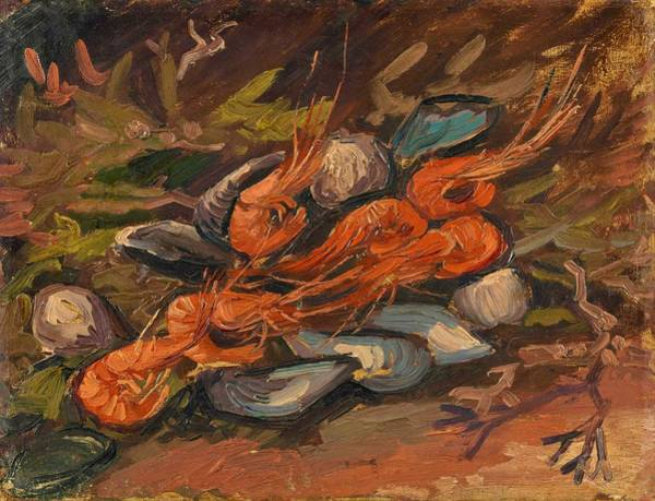 Mussel Wall Art - Painting - Prawns And Mussels - Digital Remastered Edition by Vincent van Gogh