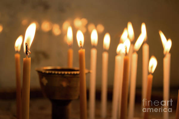 Wall Art - Photograph - Prayer Candles by Delphimages Photo Creations