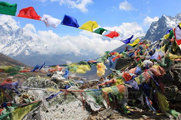 Nepal Wall Art - Photograph - Prayer Flags by Abdelrahman Hassanein