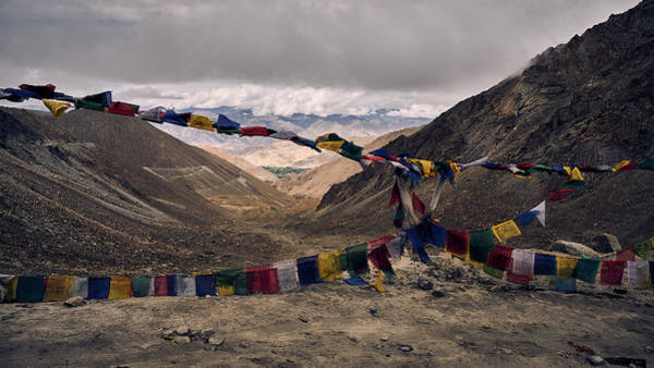 Prayer Flags In The Himalayas Art Print