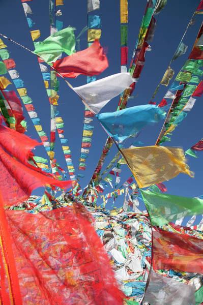 Prayer Flags In Wind Art Print