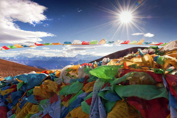 Prayer Flags With Everest And The Art Print