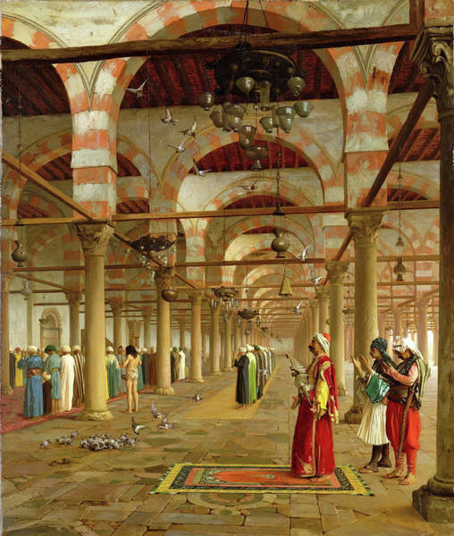 Wall Art - Painting - Prayer In The Mosque - Digital Remastered Edition by Jean-Leon Gerome