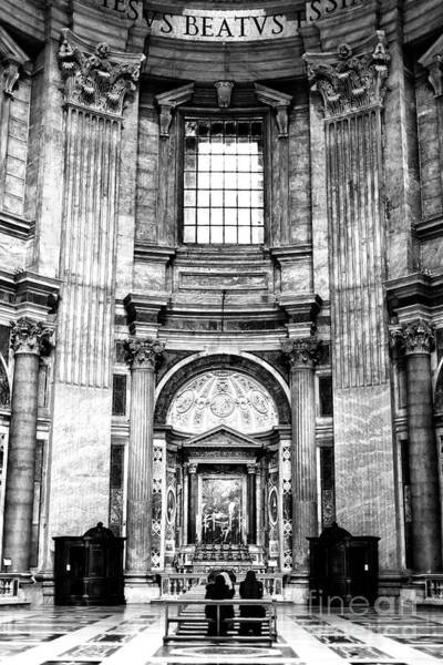 Photograph - Prayer Time At Saint Peter's Basilica In Vatican City by John Rizzuto