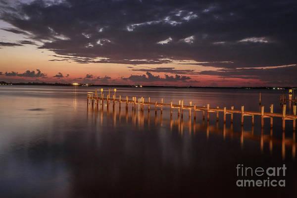 Photograph - Pre-dawn Pier Glow by Tom Claud