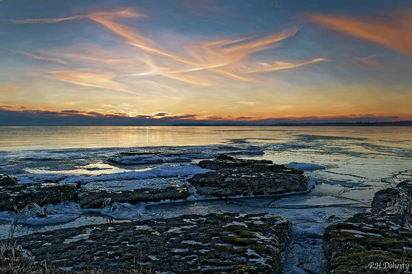 Great Lakes Region Wall Art - Photograph - Preamble To Sunset by Phill Doherty