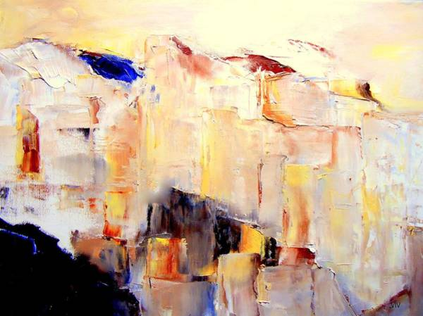 Painting - Precipice 1 Austrian Alps Imagined-dedicated  by VIVA Anderson