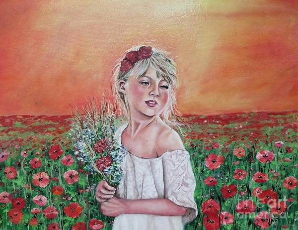 Wall Art - Painting - Precocious Poppies by Sandra Valentini