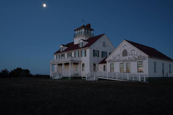 Photograph - Predawn Moon Over Coast Guard Beach On Cape Cod by Kyle Lee