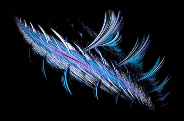 Digital Art - Prehistoric Fish Abstract Blue by Don Northup