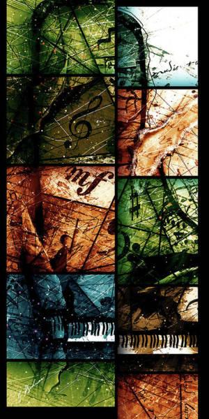 Grand Piano Digital Art - Preludio 03 by Gary Bodnar