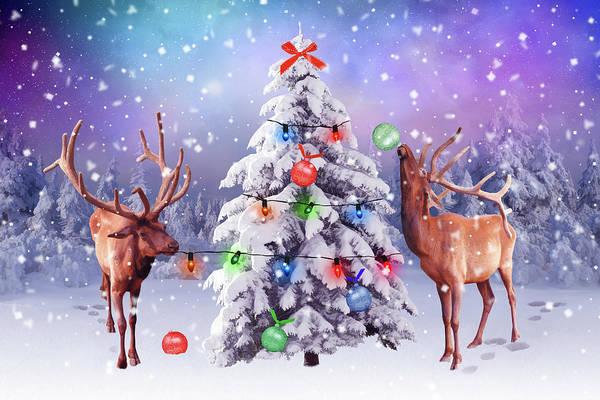 Wall Art - Digital Art - Preparing For Christmas by Mihaela Pater