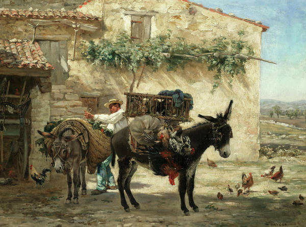 Wall Art - Painting - Preparing For Market by Paul Vayson