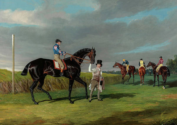 Wall Art - Painting - Preparing To Start For The Doncaster Gold Cup by John Frederick Herring