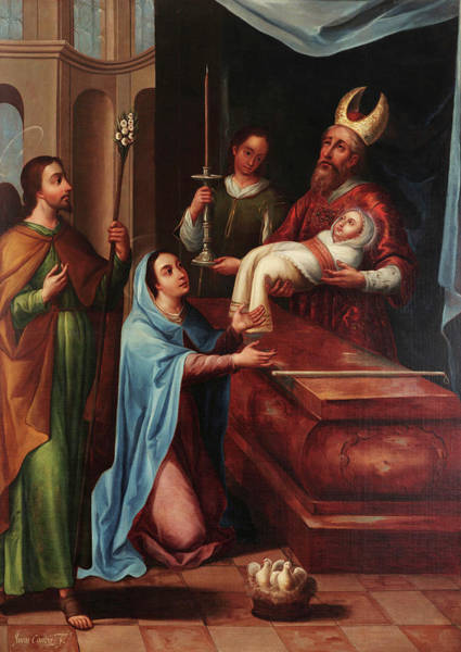 Redemption Painting - Presenation Of Jesus At The Temple by Juan Correa