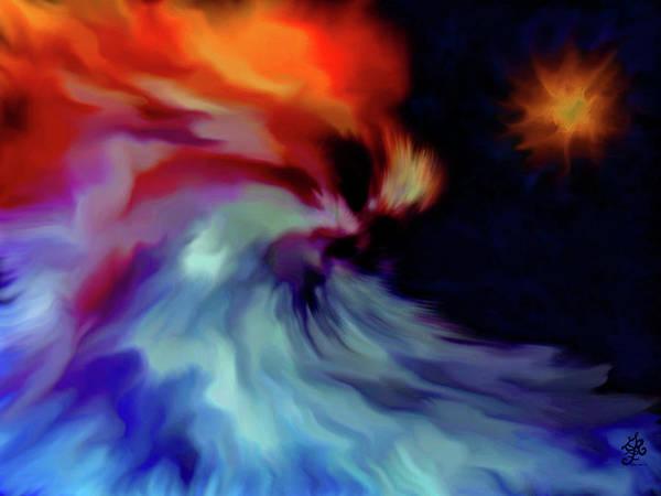 Cloak Digital Art - Present Presence by Ginger Repke