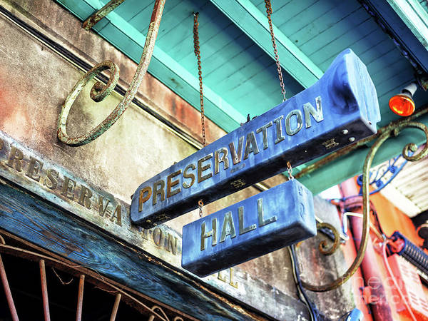 Photograph - Preservation Hall In New Orleans by John Rizzuto
