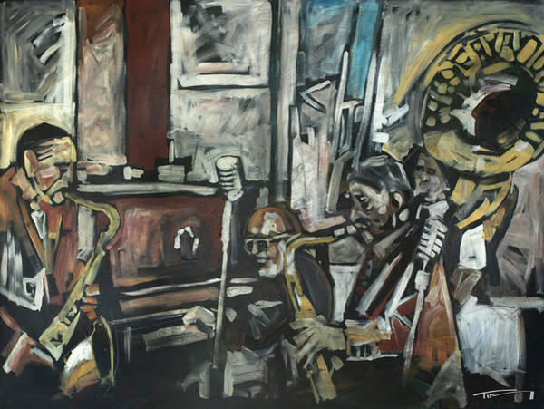 Painting - Preservation Hall Jazz Band by Tim Nyberg