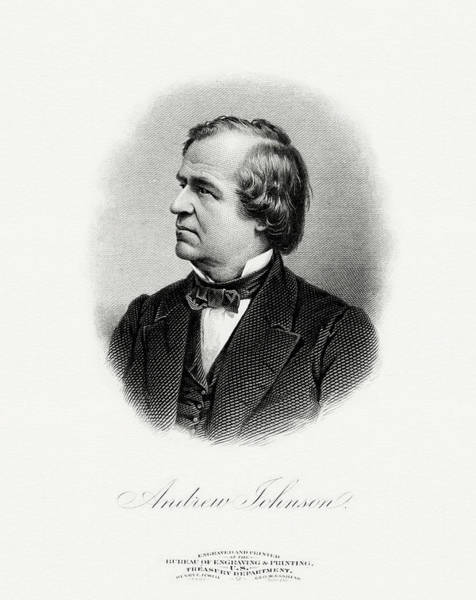 Vice Painting - President Andrew Johnson by The Bureau of Engraving and Printing