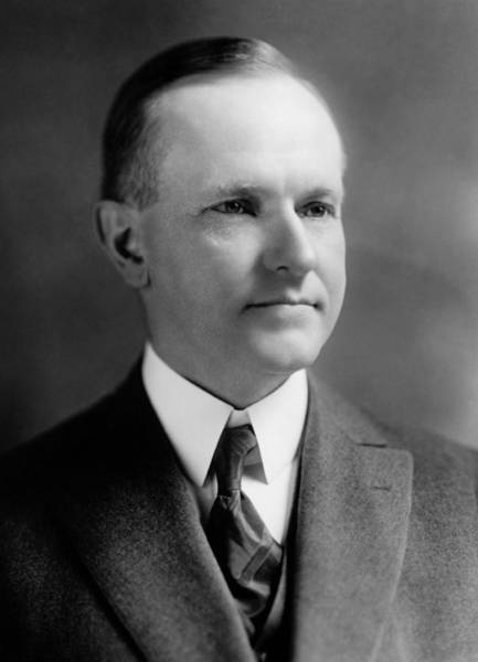 Wall Art - Photograph - President Calvin Coolidge Portrait - 1923 by War Is Hell Store