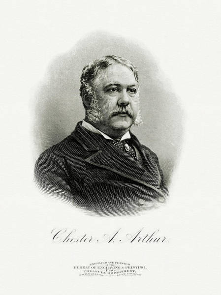 Wall Art - Painting - President Chester A. Arthur by The Bureau of Engraving and Printing