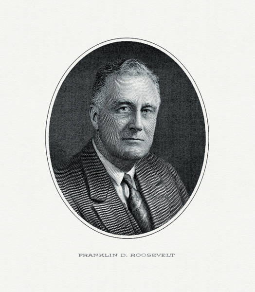 Fdr Painting - President Franklin D. Roosevelt by The Bureau of Engraving and Printing