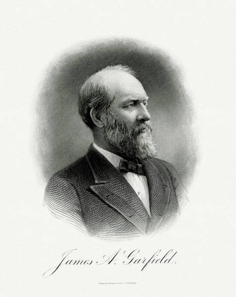 Wall Art - Painting - President James A. Garfield by The Bureau of Engraving and Printing