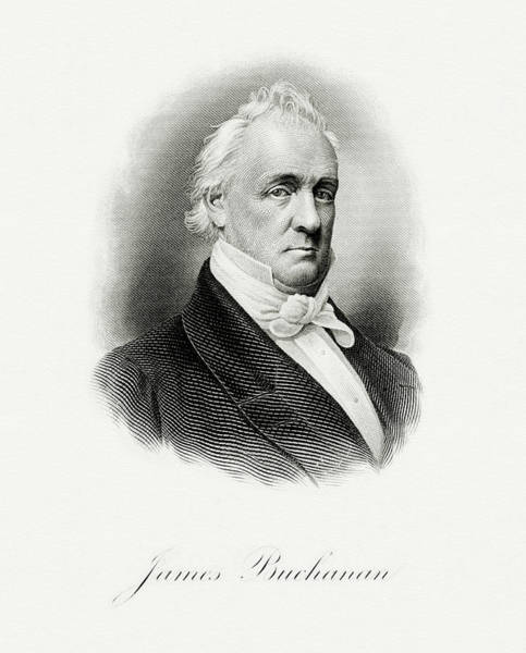 Wall Art - Painting - President James Buchanan by The Bureau of Engraving and Printing