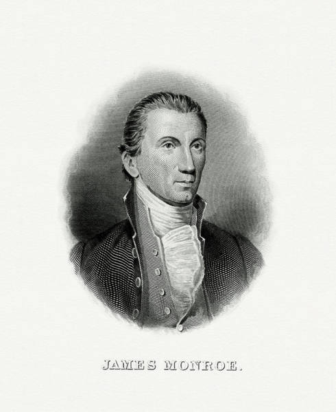 Wall Art - Painting - President James Monroe by The Bureau of Engraving and Printing