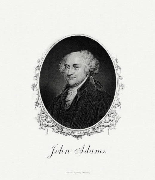 Vice Painting -  President John Adams by The Bureau of Engraving and Printing