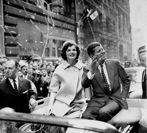 Wife Photograph - President John F. Kennedy And Wife by New York Daily News Archive