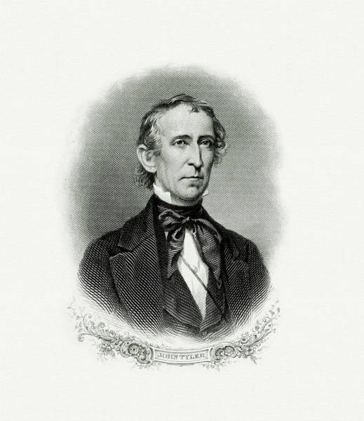 Vice Painting - President John Tyler by The Bureau of Engraving and Printing