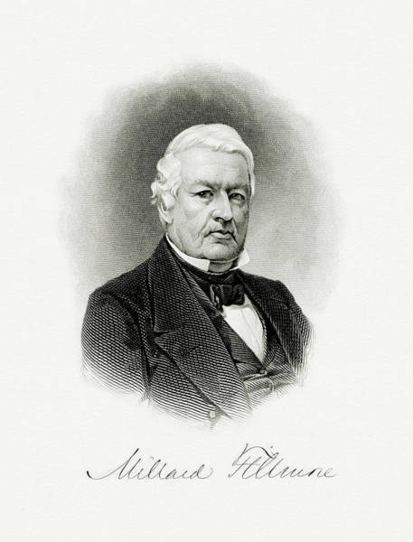 Vice Painting - President Millard Filmore by The Bureau of Engraving and Printing