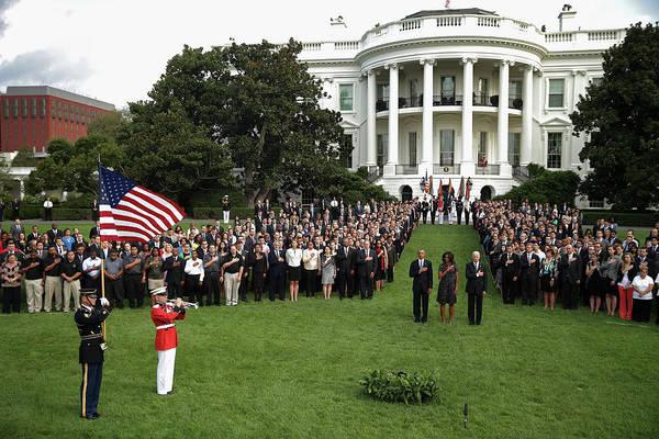 September 11 Attacks Photograph - President Obama Observes Moment Of by Chip Somodevilla
