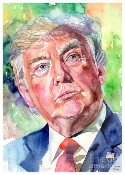 Florida Beach Painting - President Trump by Suzann Sines