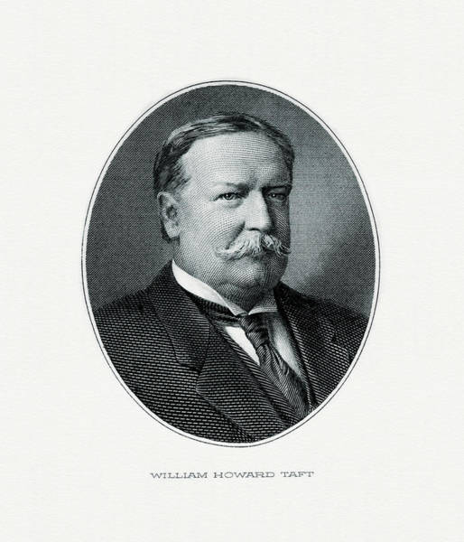 Howard Painting - President William Howard Taft by The Bureau of Engraving and Printing