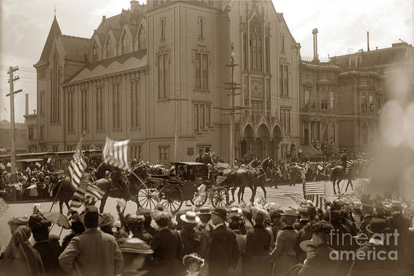 Photograph - President William Mckinley Toured San Francisco May 21, 1901 by California Views Archives Mr Pat Hathaway Archives